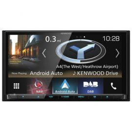 "Kenwood DNX8180DABS - 7"" Screen CarPlay Android Auto Bluetooth DAB GPS Stereo"