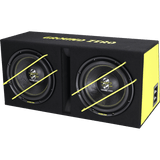 GZIB 2.3000XSPL 2x 30 cm / 12″ vented SPL subwoofer loaded enclosure
