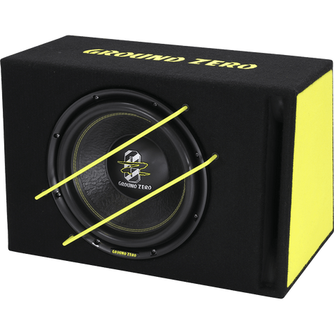 GZIB 3000XSPL 30 cm / 12″ vented SPL subwoofer loaded enclosure.