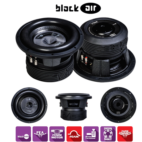 BRAND NEW!! VIBE AUDIO BLACK AIR 10 D2 VOICE COIL 600WRMS