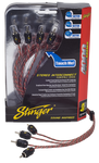 STINGER 4000 SERIES 4 CHANNEL RCA CABLE (SI4417=17ft/5.18m)