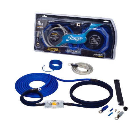 Stinger 6000 series 4 gauge power only wiring kit (SK6241)