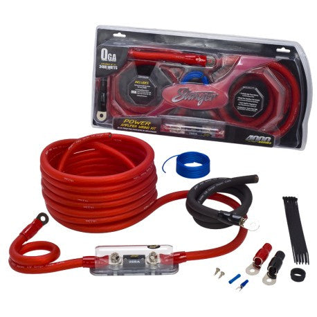 Stinger 4000 series 1/0 gauge power wiring kit  (SK4201)