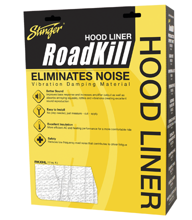 STINGER BONNET LINER SOUND DAMPENING KIT 12sqft (RKXHL)