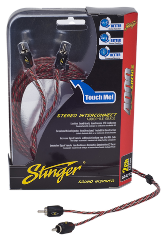 STINGER 4000 SERIES 2 CHANNEL RCA CABLE (SI4220=20ft/6.10m)