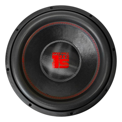 "Bassface RED15.4 15"" Inch 38cm 2x2Ohm DVC Pro SPL SQ Series Subwoofer 2500w RMS"