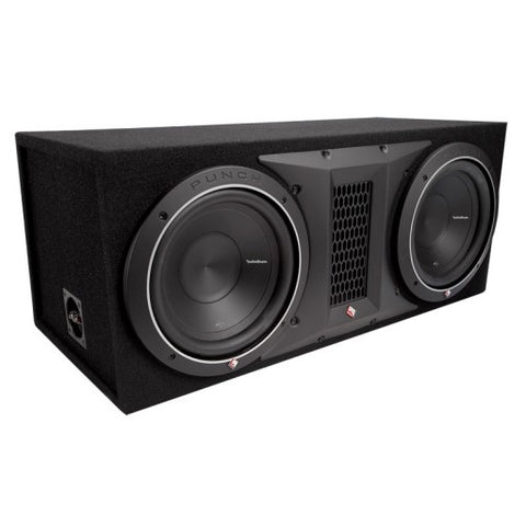 "Rockford Fosgate Punch Series -P1-2X10 Dual P1 10"" Loaded Enclosure"