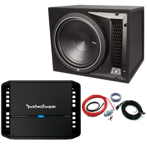 "Rockford Fosgate Punch 12"" Enclosure Mono Bass Package (P1-1X12 & P300X1)"