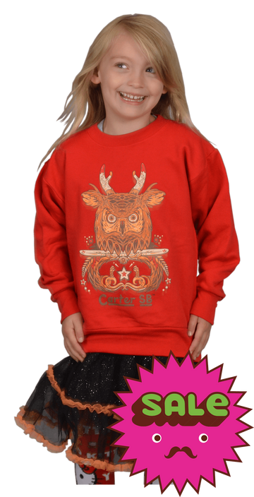 Owl Jack Kids Crew Neck Sweatshirt, Kid's Sweatshirts - Carter SB