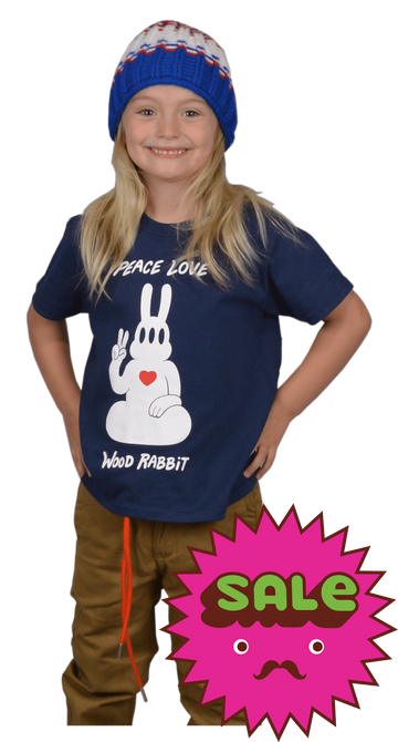 Peace Rabbit Kids Tee, Kid's Tees - Carter SB