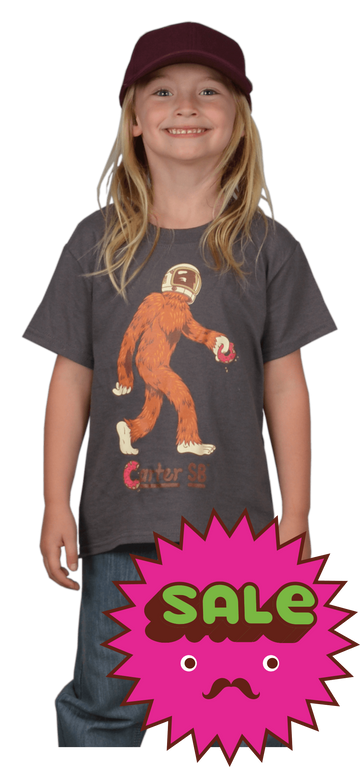 Space Squatch Kids Tee, Kid's Tees - Carter SB