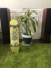 Display your skateboard on the floor with this stand