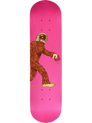 Complete Space Squatch on a Hot Pink Skateboard