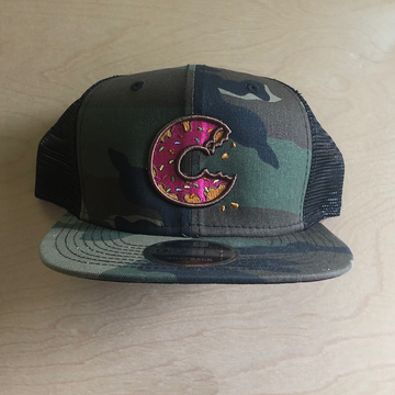 Carter SB Donut Hat - Camo, Black Mesh Back, Adult Hat - Carter SB