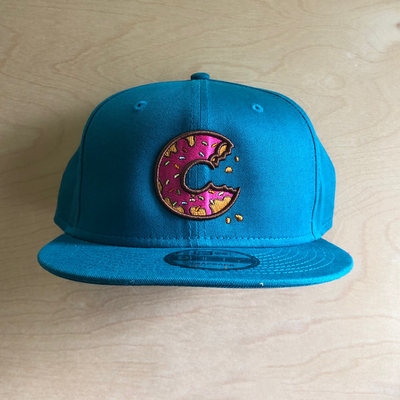 Carter SB Donut Hat - Teal, Solid Back, Adult Hat - Carter SB