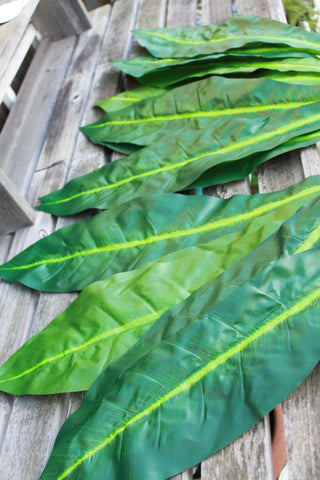 Silk Ti Leaves, Faux ti leaves for Polynesian costumes and crafts