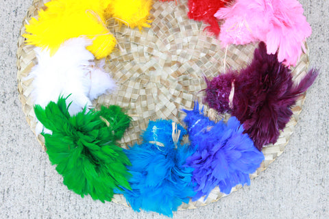 Schlappen feathers 3-5 inch in length-many many colors