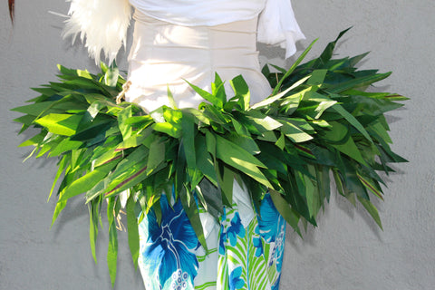 Double length/ double fullnessTi Leaf Hip Belt- Made with Silk Leaves for Tahitian Dance-adult size