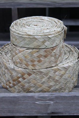 Lauhala belt for Tahitian costumes, woven lauhala- by the yard