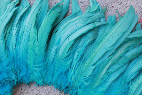 Light turquoise coque feathers