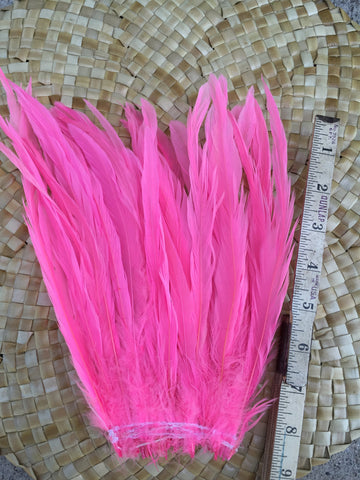 Copy of Premium pink coque feathers, light pink rooster feathers, Tahitian costumes