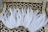 Pure white coque feathers-package of 25 feathers