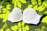 White dove shell bra- Tahitian costume bra