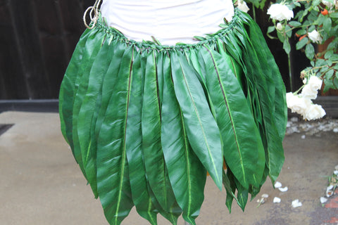 Tied Ti Leaf Hula Skirt