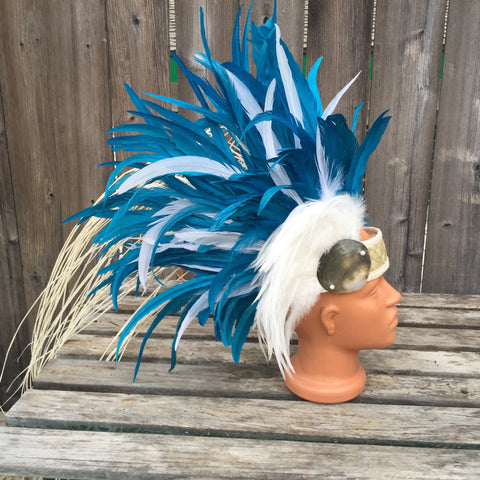 Side style headpiece for Tahitian dance costume