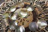 Round black-lip shells, mother of pearl shells, pendants