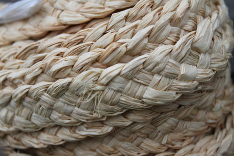Plaited Raffia Trim for costumes and crafts-One Yard