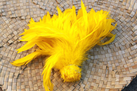 Schlappen feather in bright yellow