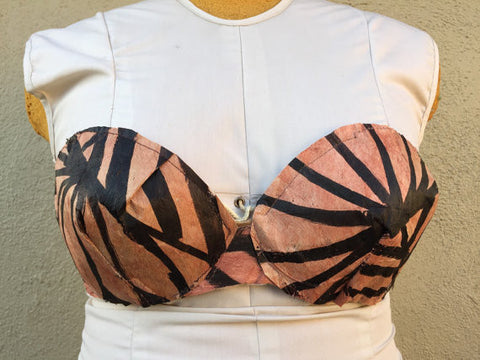 Tapa cloth covered bra