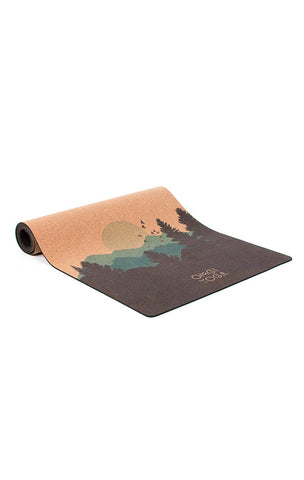 CORK Yoga Mat by OMGI Yoga - Mountains