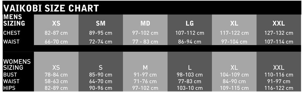 size guide clothing