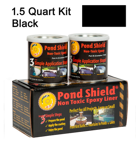 Pond Armor Pond Shield 1.5-Quart Kit, Black Non Toxic Epoxy Paint,