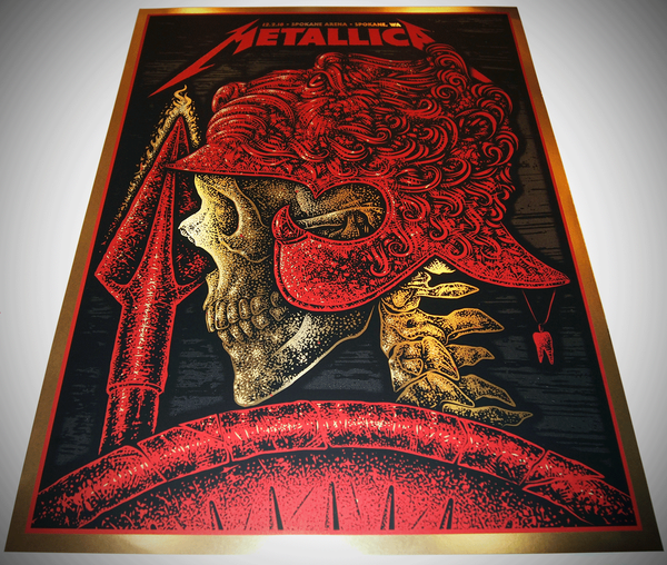 2 left - gold Metallica - Alexander the Great