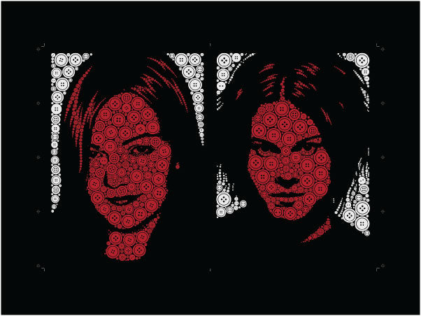 White Stripes - uncut sheet