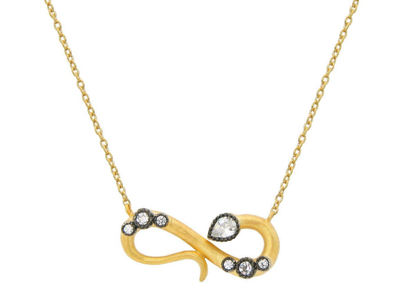 Golden Infinity Snake Necklace - Free Wear USA