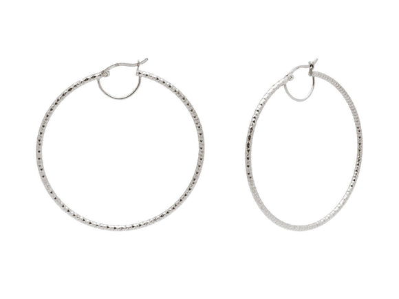 Fronay Co .925 Sterling Silver Miami Hoops Earrings - Free Wear USA