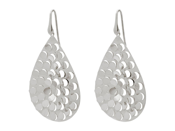 Fluttering Platinum Hook Earrings - Free Wear USA