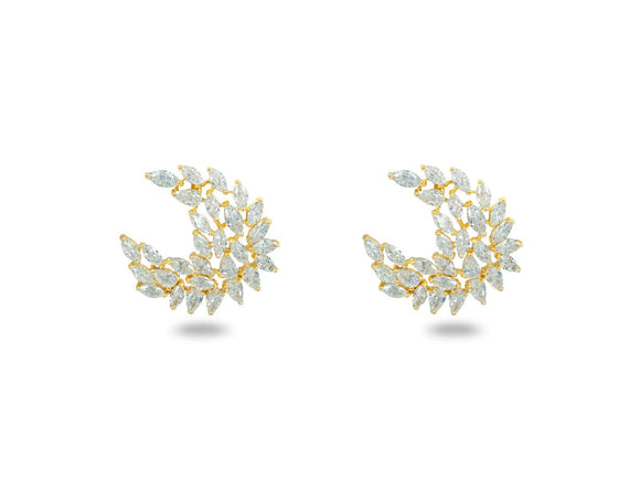 Golden Marquise CZ Angels - Free Wear USA