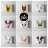 Geometric Dog Husky Pillowcase | Decorative Throw Pillow Cover | Cushion Case | Designer Pillow Case | Birthday Gift Idea For Him & Her - Free Wear USA
