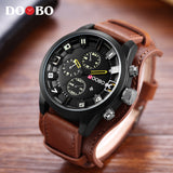 DOOBO Men's Casual Sport Quartz Watch Mens Watches Top Brand Luxury Quartz-Watch Leather Military Watch Wrist Male Clock Drop - Free Wear USA