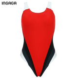 INGAGA One Piece Swimsuit 2018 Competition Swimwear Women's Swimsuit Sports Professional Swimming Backless Bathing Suits - Free Wear USA