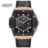 JEDIR Men Watches fashion New Luxury Brand Pirate Hollow Leather Clock Male Casual Sport Watch Men Luminous Wrist Quartz Watch