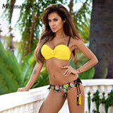 Minimalism Le Sexy Bikini swimsuit women's Swimwear 2018 Bikini Set Beach Wear Print Vintage Bathing Suits Halter Top