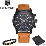 Reloj Hombre 2017 Top Brand Luxury BENYAR Fashion Chronograph Sport Mens Watches Military Quartz Watch Clock Relogio Masculino