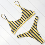 Striped Bikini Swimwear Women Padded Swimsuit Brazilian Bikini Set Beachwear Bathing Suit Bodysuit Women's Swimming Suit