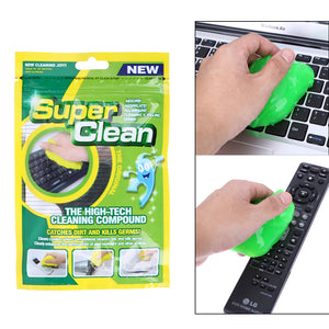 SUPER DUST CLEAN HIGH TECH CLEANING COMPOUND SLIMY GEL FOR CYBER COMPUTER - Free Wear USA